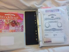 Make your own wedding planner book (free printables and tips for organization)