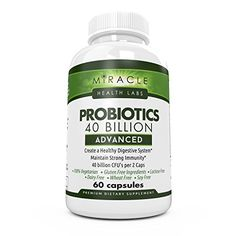 Miracle Health Labs Advanced Probiotics Supplement 60 Caps  40 Billion CFU Digestive Support for Intestinal Health Immune System Boost  Even Weight Loss  For Women and Men  Vegan Friendly -- See this great product.Note:It is affiliate link to Amazon.