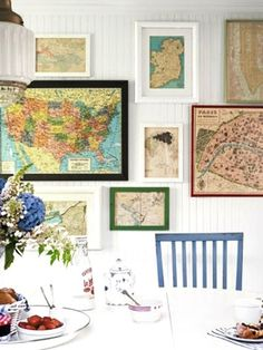 World Maps- great way to display places you have been
