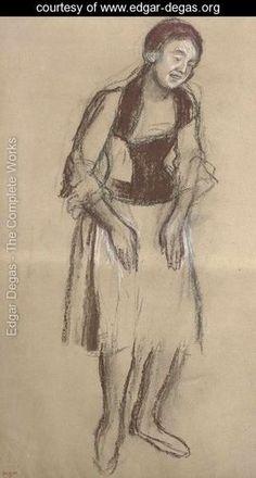 Chanteuse de cafe-concert - Edgar Degas - www.edgar-degas.org