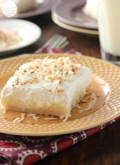 Coconut Cream Pie Bars completely from scratch! from @akitchenaddict