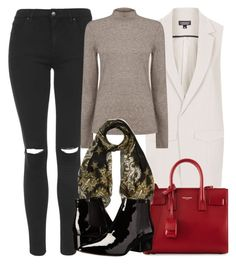 """""""Untitled #4290"""" by style-by-rachel ❤ liked on Polyvore featuring Topshop, Warehouse, Yves Saint Laurent, Givenchy, French Connection, women's clothing, women, female, woman and misses"""