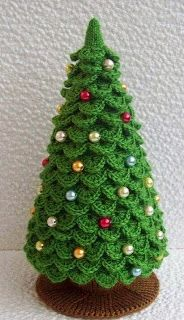 Relasé: Come fare un'albero di Natale all'uncinetto decorato con le perline? - spiegazioni Passo dopo passo