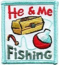 He And Me Fishing Fun Patch