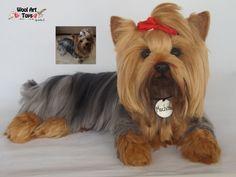 Custom Needle Felted Yorkshire Terrier Dog Yorkie Sculpture OOAK pet replica  #AllOccasion