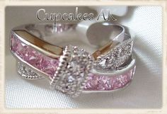 Available size 5-6-7-9-10 Pink CZ  Eternity Knot Ring. Starting at $1 on Tophatter.com!