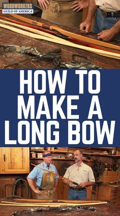 Why should Robin Hood have all the fun? Master woodworker George Vondriska teaches you all about what goes into making a custom long bow and how the shape gives the arrow its speed. Also learn where to buy a starter kit or get individual woodworking instruction for making your own classic all-wood bow.