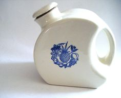 Vintage Blue and White Disc Beverage Pitcher With by parkledge, $75.00