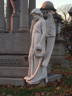 Angel statue. Greenwood Cemetery, Angel Statues, Beautiful, Art, Art Background, Kunst, Performing Arts, Art Education Resources, Artworks