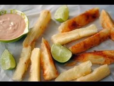 Yuca Fries Recipe - How To Make Fried Yuca or Cassava - Sweet y Salado