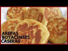 CÓMO HACER AREPAS BOYACENSES CASERAS - Arepas Colombianas dulces y rellenas de Queso Fresco - YouTube Colombian Arepas, Colombian Food, Sweet Youtube, Chefs, Achiote, Queso Fresco, Snack, Relleno, Sandwiches