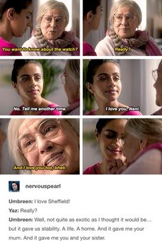 Yaz and her Nani ❤️ Doctor Who Funny, Doctor Who Tumblr, Doctor Who 10, 13th Doctor, Eleventh Doctor, Doctor Who Tattoos, Tv Doctors, Queen