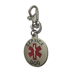 Service Dog Engraved Pet ID Tag - Rustproof, Double-Sided Pendant - Best for Animal I.D. Training, Therapy, Veterans, PTSD, Anxiety, ADA, Medical Alert, Emotional Support, Diabetes, Medic Assistance * You can get more details by clicking on the image. (This is an affiliate link and I receive a commission for the sales)