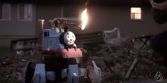 Oh look: A Thomas the Tank Engine flamethrower     - CNET Technically Incorrect offers a slightly twisted take on the tech thats taken over our lives.  Enlarge Image  The little engine that could blow your head off.                                                      Peter Sripol/YouTube screenshot by Chris Matyszczyk/CNET                                                  Human imaginations can work in weird wonderful or woefully dangerous ways.  Who for example would ever have imagined a…