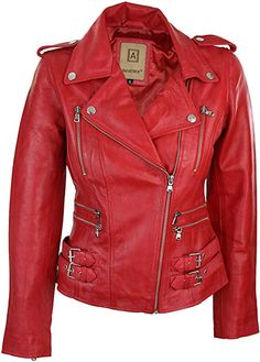 & here to see description. Hot Outfits, Stylish Outfits, Rocker Chic Style, Jacket Images, Red Vest, Cute Coats, Polo Shirt Women, Style Retro, Jackets For Women