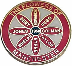 ccce3283d1a The Flowers of Manchester Metal Badge Rochdale