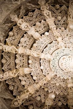 Architectural lace.  Adinatha Temple ceiling Rajasthan, India