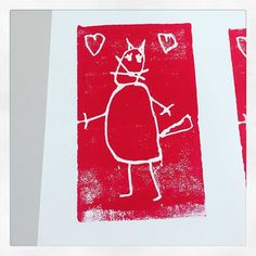 "@dunkelbunterregentag on Instagram: ""Kreatives Gestalten: Druck 🎨 #kreativesgestalten #bildnerischeerziehung #druckverfahren #drucktechnik #grundschule #volksschule…"" Bunt, Cover, Instagram, Home Decor, Rain Days, Printing Process, Printmaking, Primary School, Darkness"