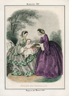 1850s Fashion, Victorian Fashion, Vintage Fashion, Victorian Era, Civil War Fashion, Jean Délavé, Civil War Dress, 19th Century Fashion, Historical Clothing
