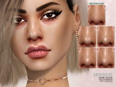 The Sims 4 Moonlit Nose Gloss Sims 4 Cc Eyes, Sims 4 Mm Cc, Sims Baby, Sims 4 Toddler, Sims 4 Game Mods, Sims Mods, Sims 4 Body Mods, Les Sims 4 Pc, Sims 4 Tsr