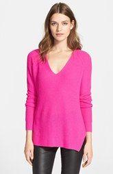 autumn cashmere Shaker Stitch Cashmere V-NeckSweater