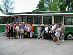 Trolley tour of Forest Lawn Cemetery