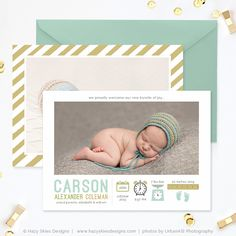 FREE Birth Announcement Template for Photographers #photoshop #birth #announcement #template #photo #card #photography #newborn #portraits #photographers #baby #free #templates