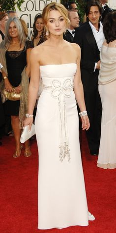 The First Time the 2015 Golden Globes Nominees Hit the Red Carpet - Keira Knightley, 2006 from #InStyle