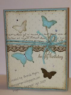 Fab Friday 37 - Butterflies for Spring!!
