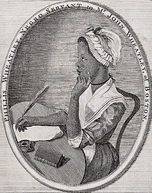 Phillis Wheatley (May 8, 1753 – December 5, 1784) was the first African-American poet and first African-American woman to publish a book. Born in Senegambia, she was sold into slavery at the age of 7 or 8 and transported to North America. She was purchased by the Wheatley family of Boston, who taught her to read and write, and encouraged her poetry when they saw her talent.