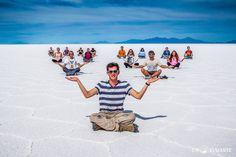 Salar de Uyuni, Bolívia - Chegando no maior deserto de sal do mundo.