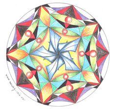 Mandaly- vychytávky 3, jak si pomoci a ulehčit tvorbu mandal Geometry