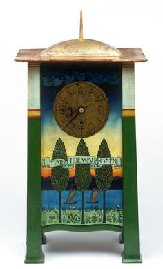 C. F. A. Voysey  Clock Charles Francis Annesley Voysey (designer) Frederick Coote (probably, maker) 1895 (designed) 1896-1901 (made) Painted and gilded mahogany with a brass and steel pendulum