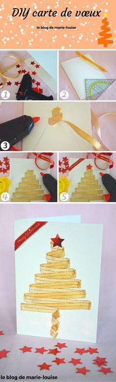 DIY wish card, DIY carte de vœux  https://leblogdemarielouise.wordpress.com/2015/12/17/diy-cartes-de-voeux/