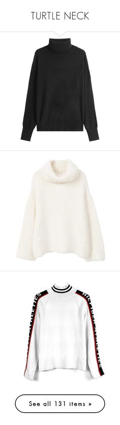 """""""TURTLE NECK"""" by jayda-xx ❤ liked on Polyvore featuring tops, sweaters, black, jumpers, polo neck sweater, polo neck jumper, pullover top, turtleneck jumper, turtleneck pullover and knit turtleneck"""