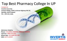 Apply Now for M.pharma/B.Pharma Admission in Best Pharmacy Colleges in UP. We offering M.pharma , B.pharma Courses. It is a Top ranked Pharmacy institute in Bareilly-UP.