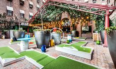 Putt Putt Park | A Miniaturized Golfing Course at Hudson New York | New York City | NYC | Event