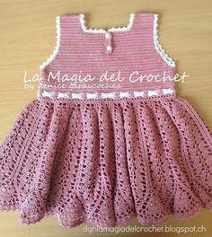 La Magia del Crochet: VESTIDO ROSA
