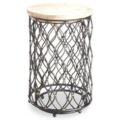 Foundary - Two Piece Nested Round Accent Table - Black; 16 x 27.25H; 19 x 27.25H; $220 = s/h.