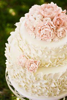 ruffle Wedding Cakes | Ruffle Wedding Cake - Cassidy Tuttle Photography