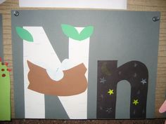 """""""Nn"""" Letter of the week art project: nest night Letter N Activities, Letter N Crafts, Preschool Letter Crafts, Abc Crafts, Alphabet Crafts, Daycare Crafts, Alphabet Book, Letter Art, Childrens Alphabet"""