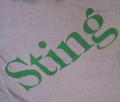 Vtg 80s Sting Concert Tour Shirt Small Gray the Police Soft Screen Stars Sprite…