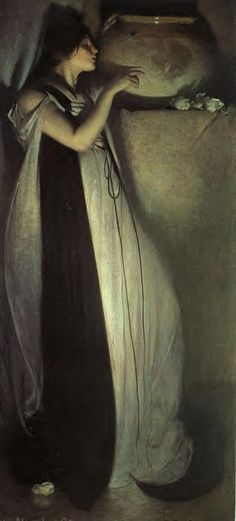 Isabella and the Pot of Basil - Oil on canvas - John White Alexander (1856-1915) - c. 1897