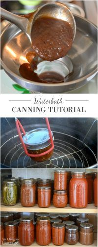 Easy waterbath canning tutorial - take the mystery out of boiling water canning with this step-by-step how-to