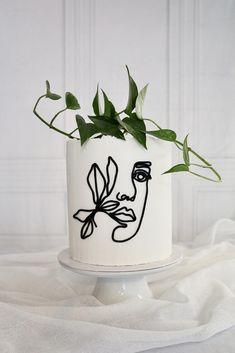White Cakes, Coffee Shop Design, Ideas Para Fiestas, Girl Cakes, Cake Art, Line Drawing, Cake Decorating, Food Photography, Art Drawings