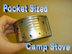 How to make a pocket sized camp stove with what you have around the house (we made these in girl scouts one year. it was so much fun!)