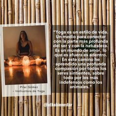 Frase sobre el Día Internacional del Yoga - Pilar Gómez para Atha Bienestar Frases Yoga, International Day Of, Wellness, Lifestyle
