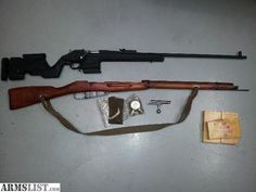 Mosin nagant w/ archangel stock - very nice upgrade on a WW2 rifle.