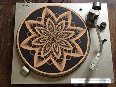 Turntable Slipmat  Specially designed Cork. by TAZstudio on Etsy