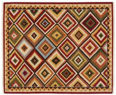 Pottery Barn Diamond Kilim Rug Multi Color 5x8 5 x 8 SEALED NEW! #PotteryBarn